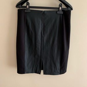 Express Skirts - Express Faux Leather Paneled Stretch Pencil Skirt